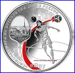 FIFA-WORLD CUP 4 x 1 oz Silver Proof Four-Coin Set RUSSIA 2018