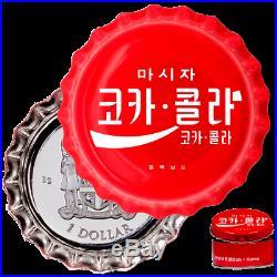 Fidschi / Fiji 1 Dollar 2020 Coca-Cola Korea Global Edition (3.) 6 gr Silber PP