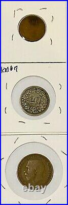 Foreign World Coins, Lot of 14 Carded, GVG-AU (2)1800s-(2) Silver-Some High Grades