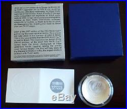France 10 euro Silver Proof Curved coin 2014 Football World Cup Brazil NEW