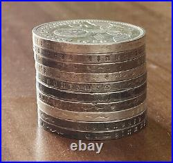 GERMAN lot of 10 coins Silver world war two 5 RM Big Swastika