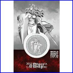 GERMANIA 5 MARK 2019 WORLD MONEY FAIR BERLIN 1 oz SILVER Coin