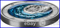 GREAT WHITE SHARK Underwater World 3 Oz Silver Coin 5$ Barbados 2018