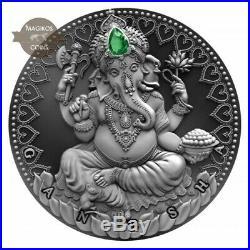 Ganesha World Cultures 2 Oz silver coin 2019 Cameroon 2000 Francs Presale