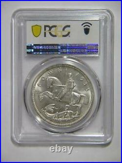 Great Britain 1935 Crown King George V Silver Pcgs Graded Ms 64 World Coin