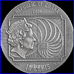 Gustav Klimt World's Greatest Artists 2 oz Silver Coin Republic of Ghana 2020
