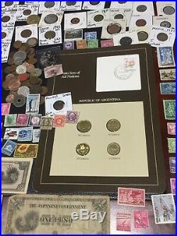 Huge Lot 400+ USA&World Coin/Stamp1893/SilverProof/Mercury/Buffalo/MS66RD/BUST