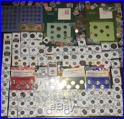 Huge Lot 400+ USA&World Coins/Stamp1893/SilverProof/Mercury/IKE/Buffalo/MS65RD