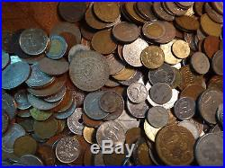 Huge World Coin Lot (Over 500 Coins Some Silver) Free S&H USA