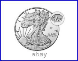 IN HAND 2020 End of World War II 75th Anniversary American Eagle SilverCoin 20XF