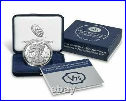 IN HANDEnd of World War II 75th Anniversary American Eagle Silver Proof Coin