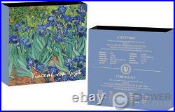 IRISES Vincent Van Gogh Treasures of World 1 Oz Silver Coin 1$ Niue 2021