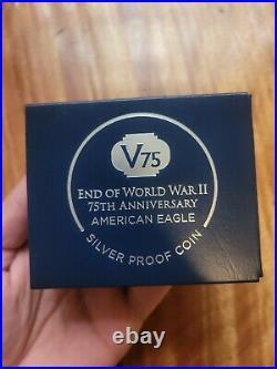 IWO JIMA! 2020 W End World War II 2 75th American Silver Eagle V75 NGC PF70