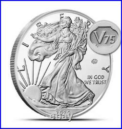 In-HandEnd Of World War II 75th Anniversary American Eagle Silver Proof Coin