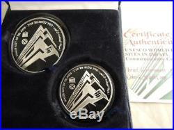 Israel 2006 Unesco World Heritage Tel Aviv-white City PR+BU Silver Coins+box+COA