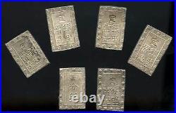 Japan 1859-1868 Old Silver Ichibu coins, Samurai Era, Group of 10 pcs