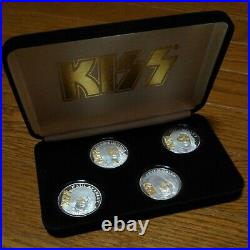 KISS Alive Worldwide Tour 1996-1997 Silver Coin Set from JPN Very Rare 1000 Ltd