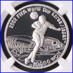 Korea 2001 FIFA Korea Japan 2002 World Cup- Gwangju Stadium Silver Coin NGC PF69
