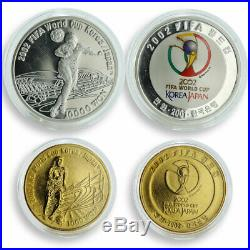 Korea set of 2 coins FIFA World Cup 2002 silver and nickel 2001-2002