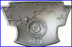 Latitude 30 North Mask MYSTERIES OF THE WORLD 2021 2 oz Silver Coin NIUE