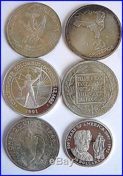 Lot 18 World Silver Crown Sized Coins Commemoratives High Grade &Proof 1961-2006