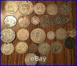 Lot Of 25 Silver World Coins