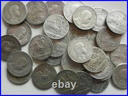 Lot of 30 1 lire 1913 silver coins Vitt. Emanuele III