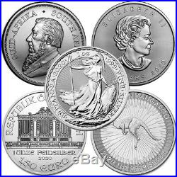 Lot of 5 2020 1 oz Silver Coins From Around The World Brilliant Uncirculated