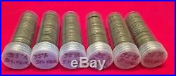 Lot of 6 Rolls (240 coins) of Silver Jefferson World War II Nickels FREE SHIP