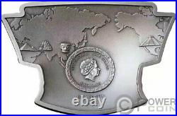 MYSTERIES OF THE WORLD Latitude 30 North 2 Oz Silver Coin 5$ Niue 2021