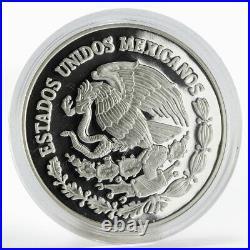 Mexico 5 pesos World Cup Soccer Games FIFA football proof silver coin 2006