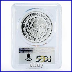 Mexico 5 pesos World Wildlife Fund Wolf Lobo PR69 PCGS proof silver coin 1998