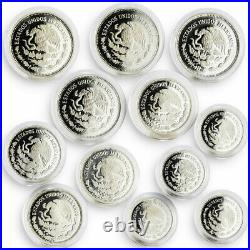 Mexico set of 12 coins Football World Cup 1986 silver coins 1985 1986