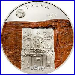 Mongolia 2008 500 Togrog New 7 World Wonders Petra 25g Silver Coin