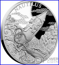 NAUTILUS Fantastic World Jules Verne 1 Oz Silver Coin 1$ Niue 2018