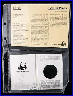 NGC PF69 China 1986 World Wildlife Fund Panda Silver Coin 5 Yuan COA