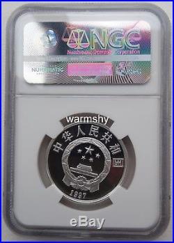 NGC PF70 China 1997 World Wildlife Fund Panda Silver Coin S3Y B