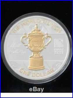 New Zealand 2011- 1 OZ Silver Proof Coin- Rugby World Cup New Zealand