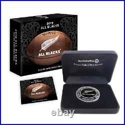 New Zealand 2019 1 OZ Silver Proof Coin- All Blacks Rugby World Cup