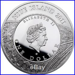 Niue 2011 $1 Butterflies Old World Swallowtail 28.28g Silver Proof Coin