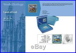 Niue 2014 $2 World Heritage Lamb of God 1 Oz Silver Coin