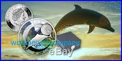 Niue 2016 S. O. S. To The World Chinese River Dolphin $1 Silver Coin NEW