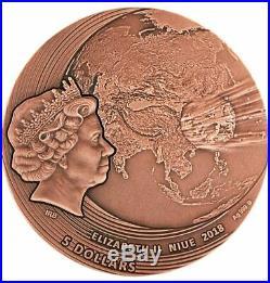 Niue FUKANG series WORLD OF METEORITES $5 Silver Coin 2019 Meteorite inlay 2 oz