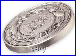 OCTOPUS UNDERWATER WORLD 2021 3 oz Ultra High Relief Pure Silver Coin BARBADOS