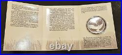 Oman World Widelife Fund Silver Proof Coin 1987 In Original Cover