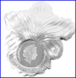 Orchid World Enchanting Flower 2020 $2 1 Oz Fine Silver Coin Niue