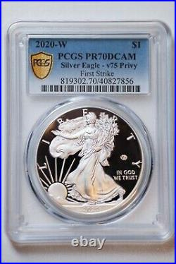 PCGS PR70 End of World War II 75th Anniversary American Eagle Silver Proof V75