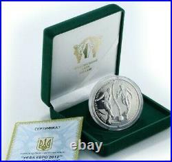 POLAND-UKRAINE EURO 2012 2 Puzzle Proof Coins 2Oz Silver UEFA World Cup Football