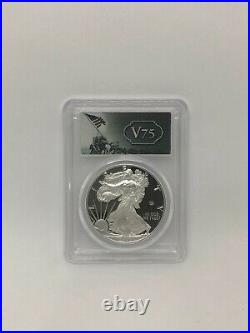 PR70 PCGS 2020 End of World War II V75 American Silver Eagle FIRST STRIKE with COA