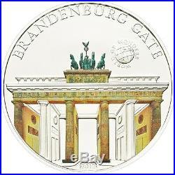 Palau 2011 5$ World of Wonders V Brandenburg Gate Silver Coin LIMIT 2500